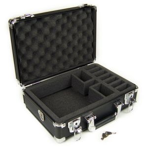Premium Black Aluminum Case with Die-Cut Foam for One Aircraft Transmitter
