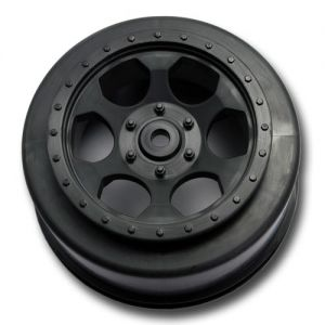"""Trinidad"" Black Short Course Wheels for XXX-SCT, Rear (2)"