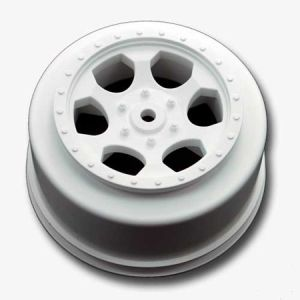 """Trinidad"" White Short Course Wheels for XXX-SCT, Rear (2)"