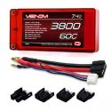 7.4V 3800mAh 2S 60C LiPo Battery Pack w/Universal Connector